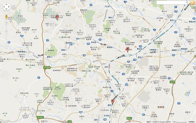 仙台市内の乗車地