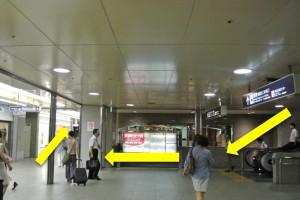 阪急梅田からプラザモータープール2・改札後