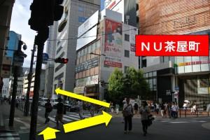 阪急梅田からプラザモータープール4・交差点