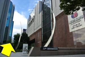阪急梅田からプラザモータープール6・梅田芸術劇場