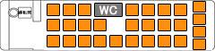 クリスタルライナー座席表