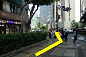 中津駅からプラザモータープール道順・直進後の左折