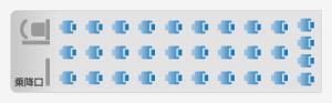 3列独立座席表