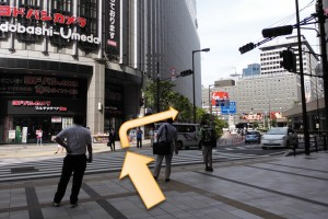 JR大阪駅からプラザモータープール6