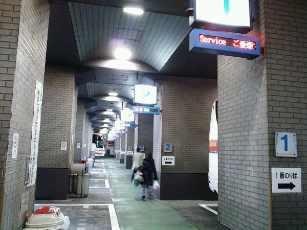 三ノ宮バスターミナル出発口