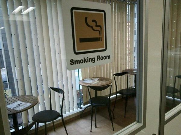 VIPラウンジ喫煙コーナー