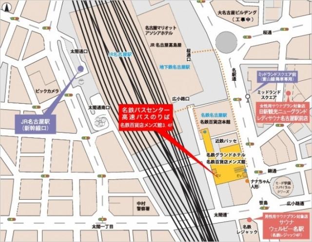 名鉄バスセンターの地図
