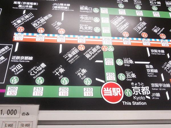 京都地下鉄路線図
