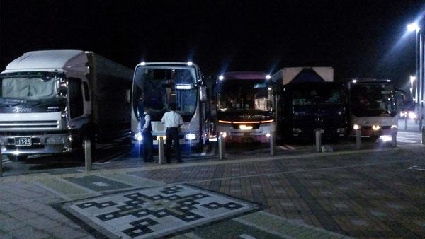 海部観光 休憩中バス