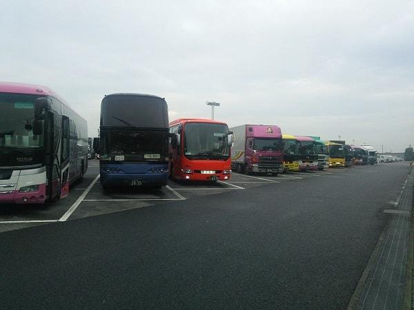 海老名での高速バスたち