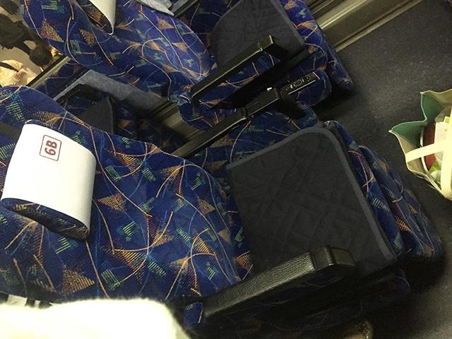 阪急バス 大阪→松山 座席2