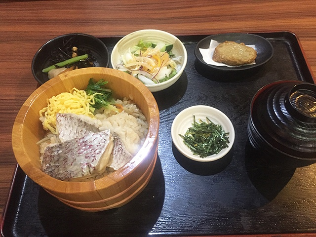 郷土料理 五志喜 松山風鯛めし