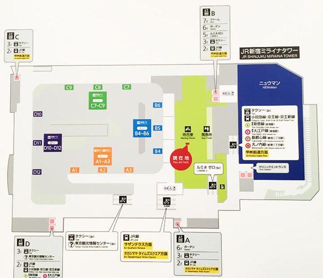 バスタ新宿フロアマップ