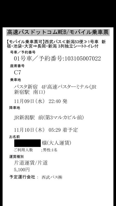 東京 新潟 夜行バス