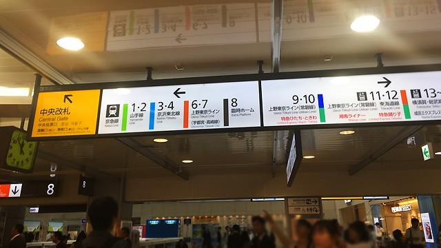 品川駅構内の案内板