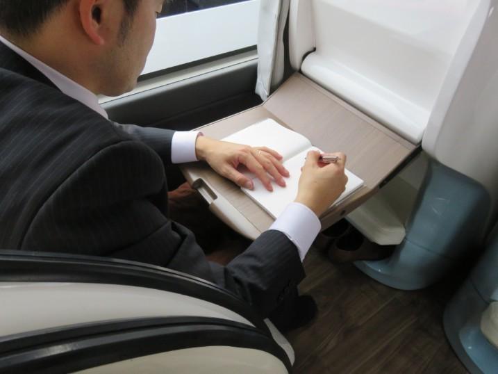 座席テーブル