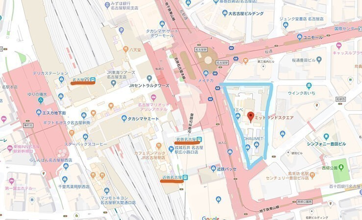 ミッドランドスクエア前地図
